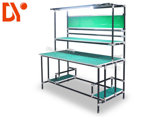 کارگاه آموزشی Lean Pipe ESD Work Table Clean Surface Resistance Eco-friendly